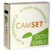 CCTV cable: CAMSET 100 PE 75-0.59/3.7+2x1.0 [200m] (92% braid coverage, 2 power wires up to 230VAC)